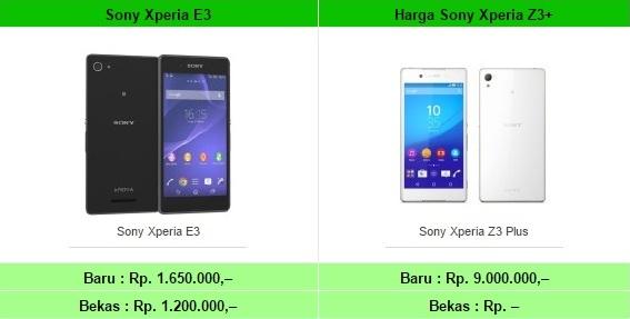 List Harga HP Sony Xperia Terbaru Semua Type Tahun 2017