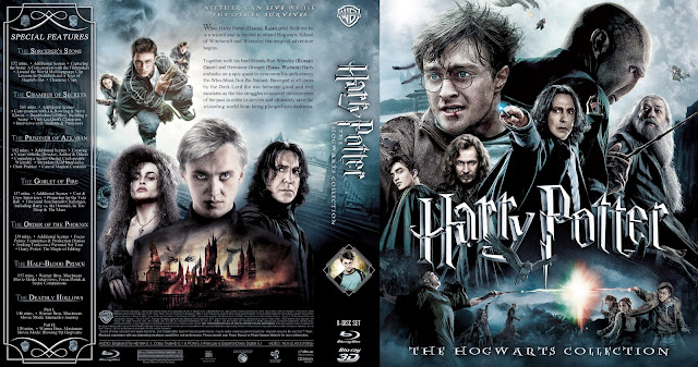 Capa Bluray 3D Harry Potter The Hogwarts Collection
