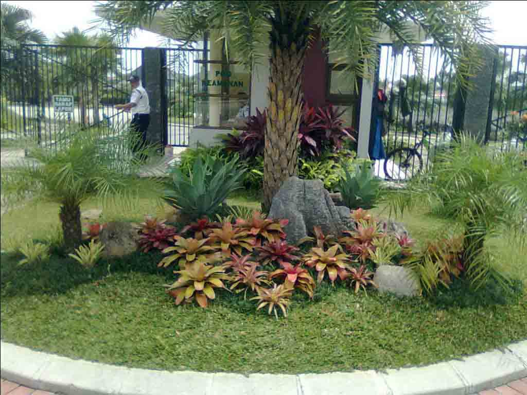 dekorasi taman dan kolam minimalis