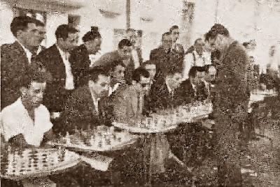 Simultáneas de ajedrez por Antonio Medina, Granollers 1945