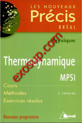 thermodynamique cours et exercices résolus MPSI