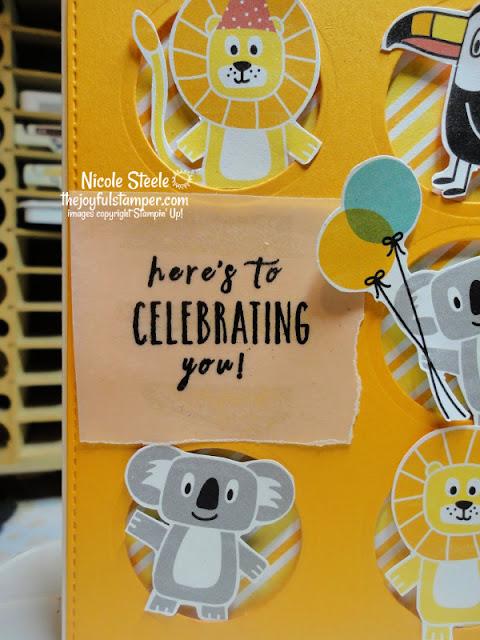 kid's birthday card | Stampin' Up!'s Birthday Bonanza Designer Series paper | Nicole Steele The Joyful Stamper