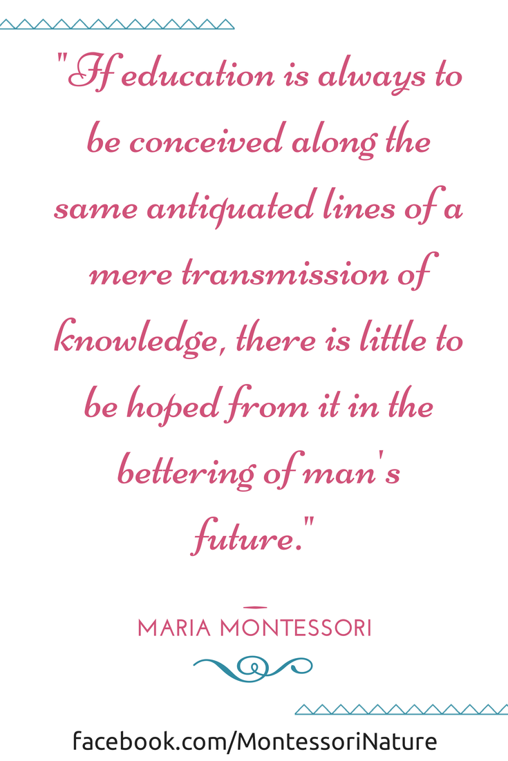 Quotes Of Maria Montessori Inspiration For Teachers And