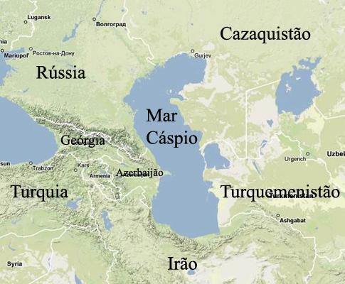 mar cáspio mapa Rússia fará exercícios navais no Mar Cáspio Azerbaijão e  mar cáspio mapa