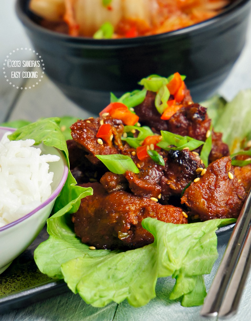 Spicy Grilled Boneless Pork Spare #Ribs #koreanfood