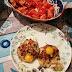 Shitakes rellenas con huevos de codorniz