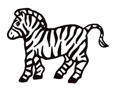 Gambar Mewarnai Zebra - 2