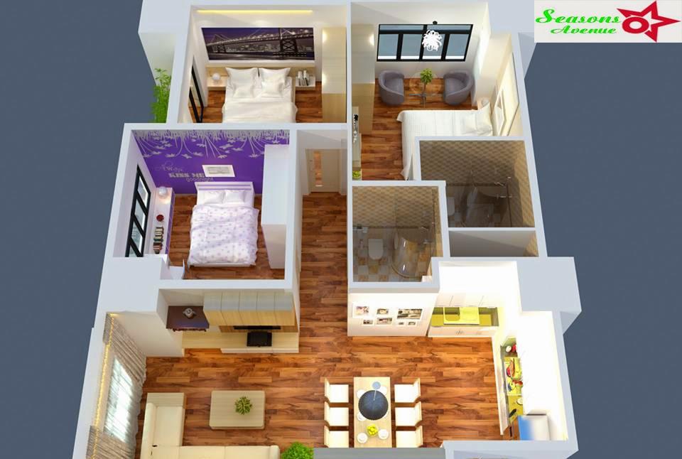 Đẳng cấp căn hộ chung cư Seasons Avenue - Capitaland Hoàng Thành
