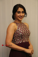 Actress Regina Candra Latest Stills in Maroon Long Dress at Saravanan Irukka Bayamaen Movie Success Meet .COM 0017.jpg