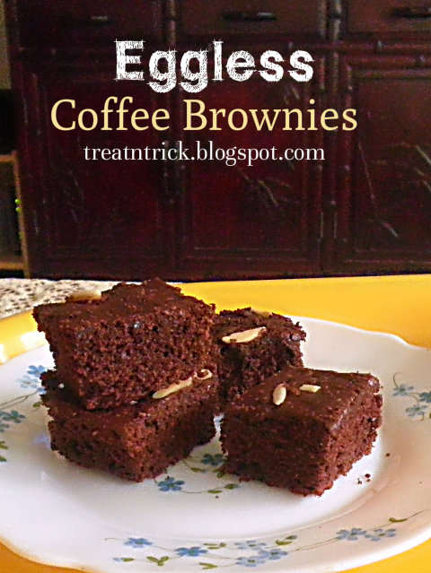 Eggless Coffee Brownies Recipe @ treatntrick.blogspot.com