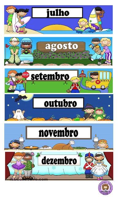 Meses do Ano educação infantil