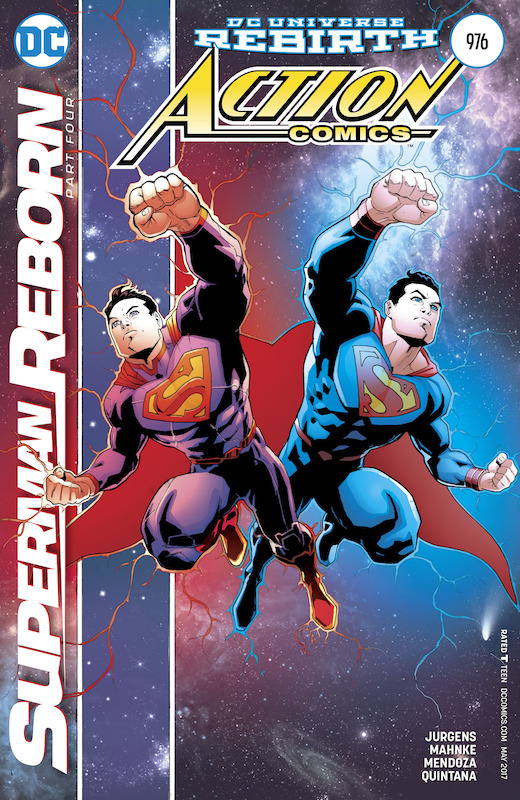 Action Comics #976 Writer: Dan Jurgens Art: Doug Mahnke Inks: Jaime Mendoza, Christian Alamy, Trevor Scott Colors: Wil Quintana Letters: Rob Leigh Covers: Patrick Gleason, John Kalisz, Gary Frank, Brad Anderson  Superman created by Jerry Siegel and Joe Shuster.