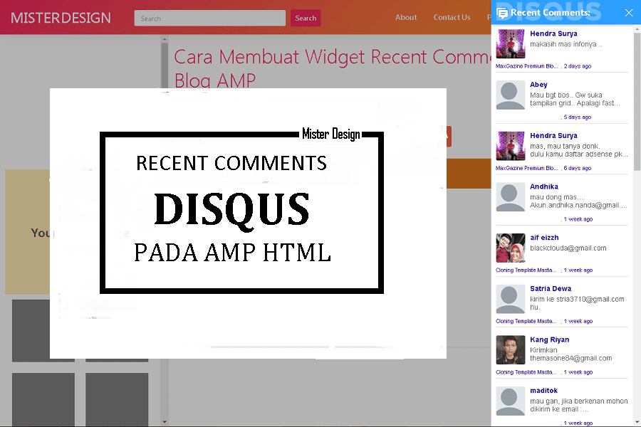 Membuat Widget Recent Comments