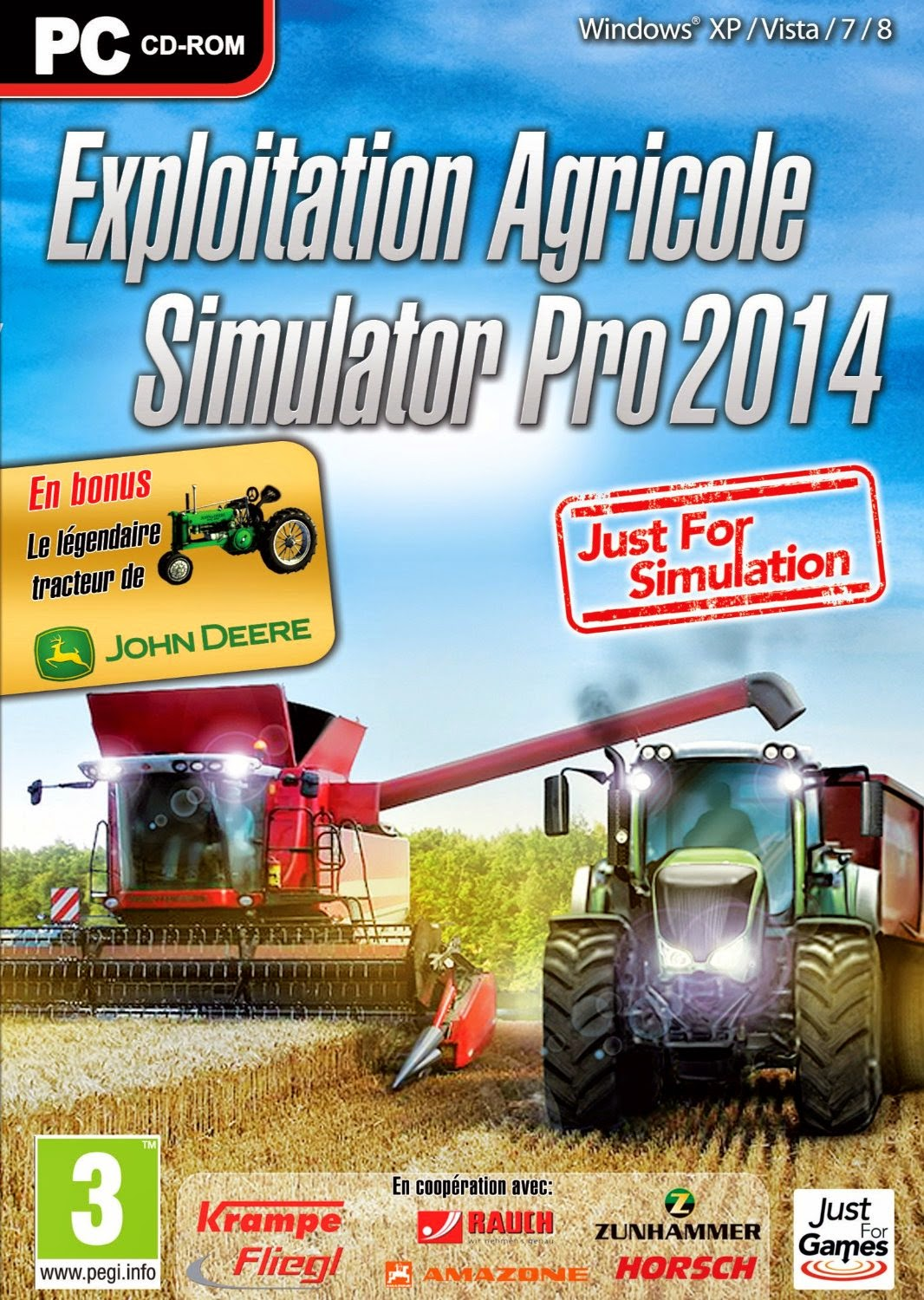 exploitation agricole simulator pro 2014 jeu complet pour pc en francais crack inclus. Black Bedroom Furniture Sets. Home Design Ideas