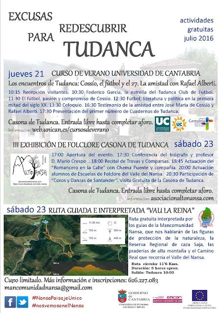Actividades Julio 2016 en Tudanca