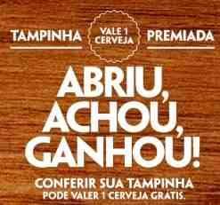 Promoção Cerveja Grátis Tampinha Premiada Abriu Achou Ganhou Schin Glacial Devassa
