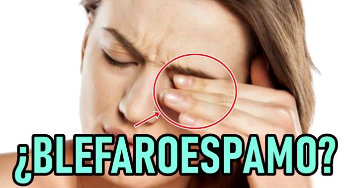 Temblor involuntario en los párpados de los ojos