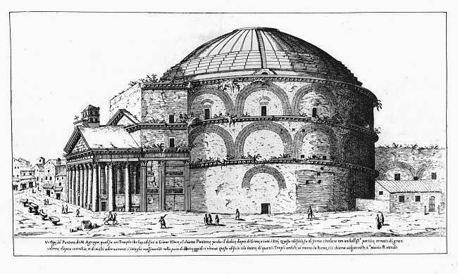Panteón. Dibujo siglo 16