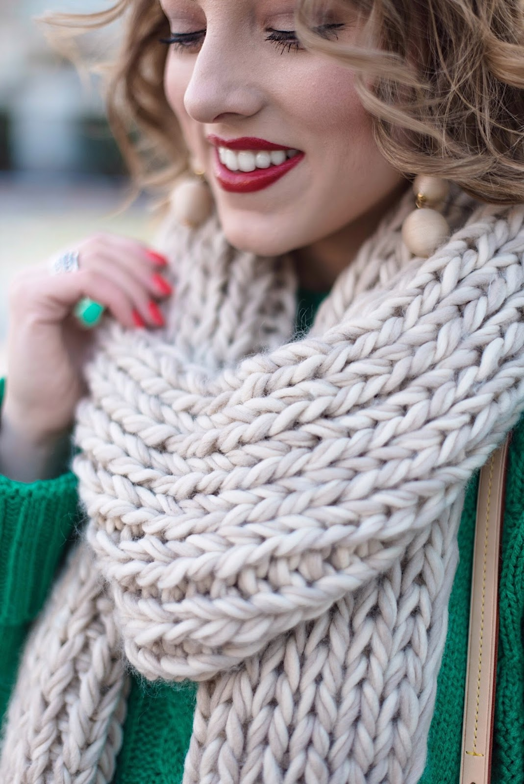 Winter Fashion: Chunky Knit Scarf - Something Delightful Blog