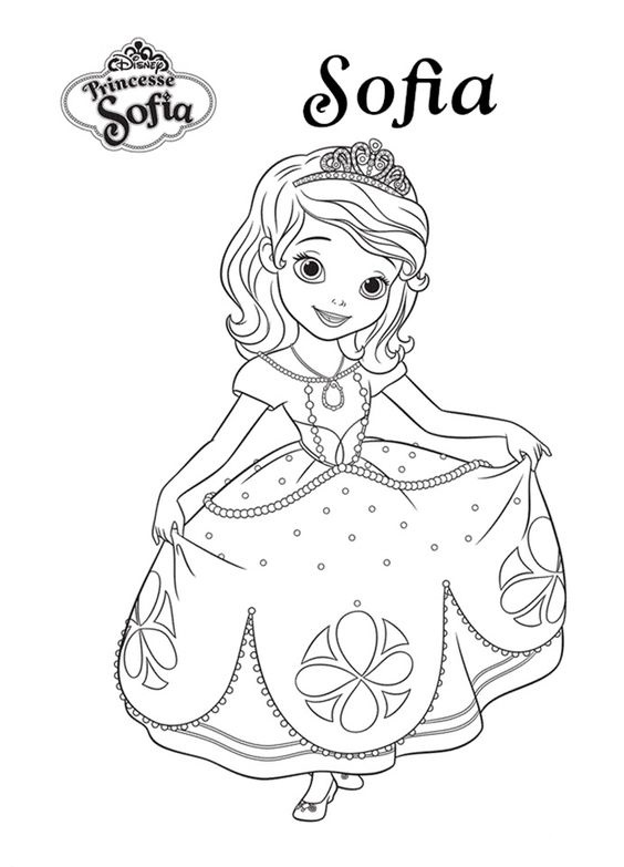 Muitos Desenhos Da Princesa Sofia Para Pintar Colorir Imprimir