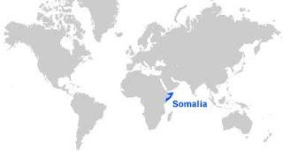 Gambar Peta letak Somalia