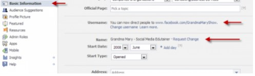 how to change your facebook page name more than once