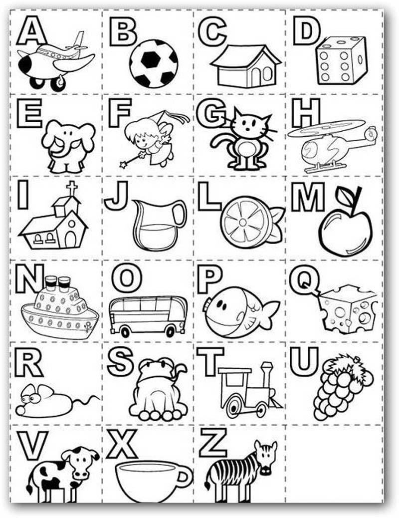 Aprender el abecedario coloreando y jugando