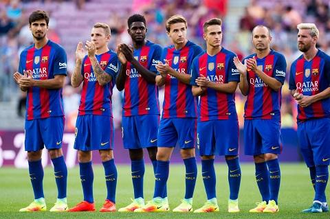 Những chàng trai của Barca trong trận đấu