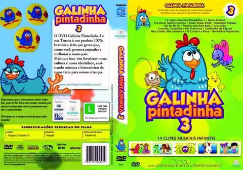 DVD Galinha Pintadinha 3 Completo.