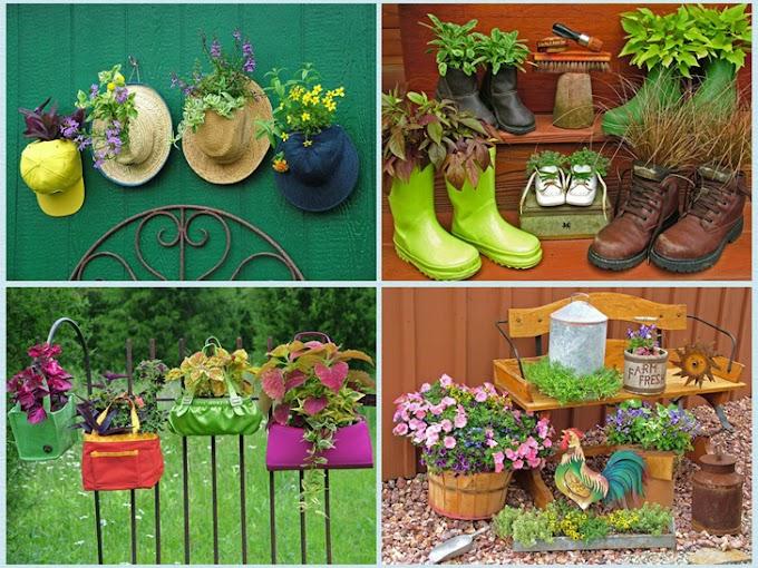 Floreiras diferentes para o seu jardim