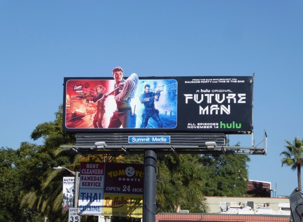Future Man cutout billboard