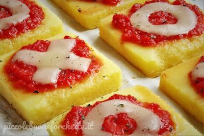 foto Ricetta pizza a base di polenta per bambini