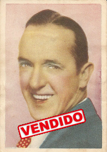 Cromo antiguo de Stan Laurel