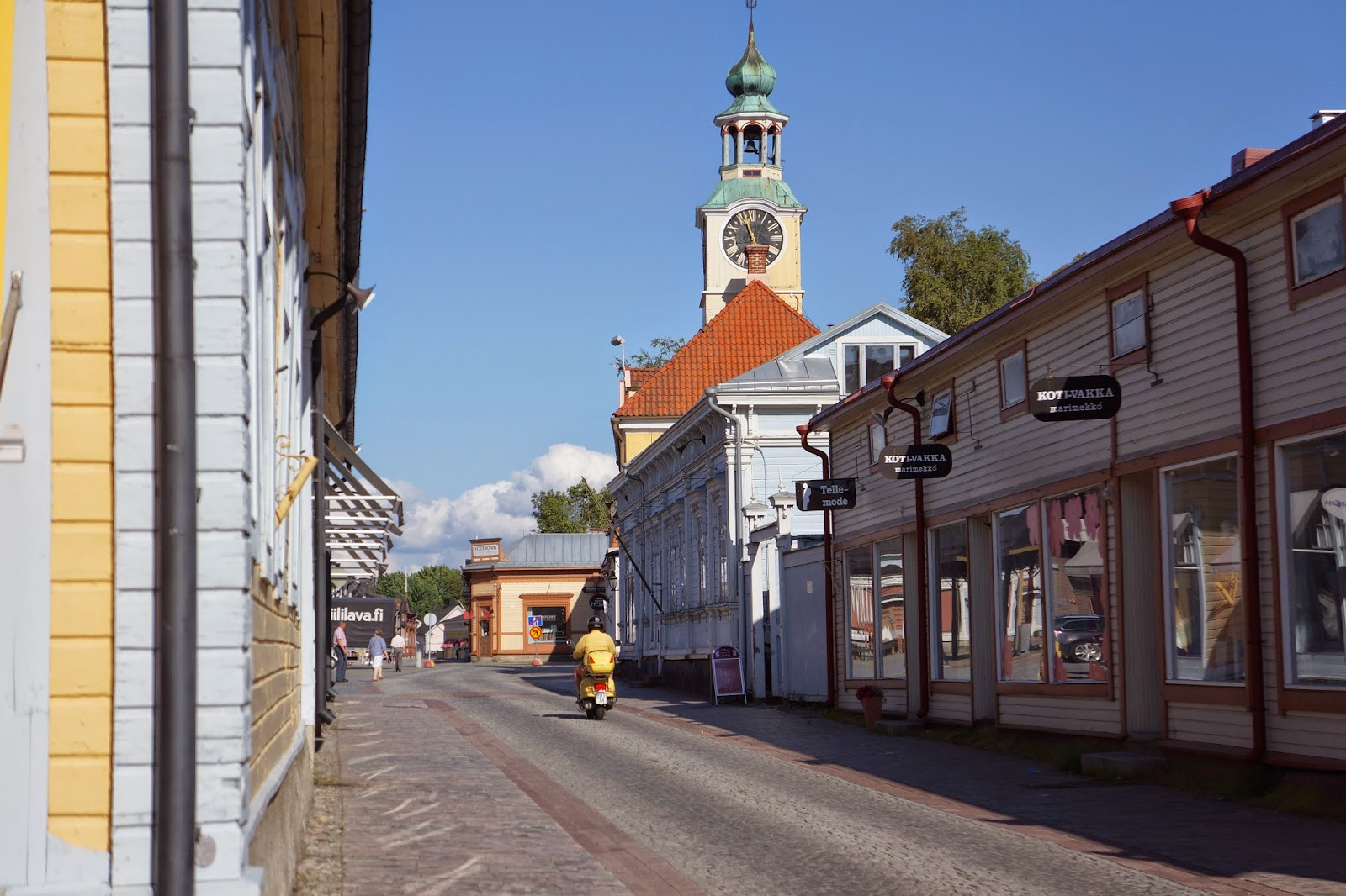 the main street in old rauma