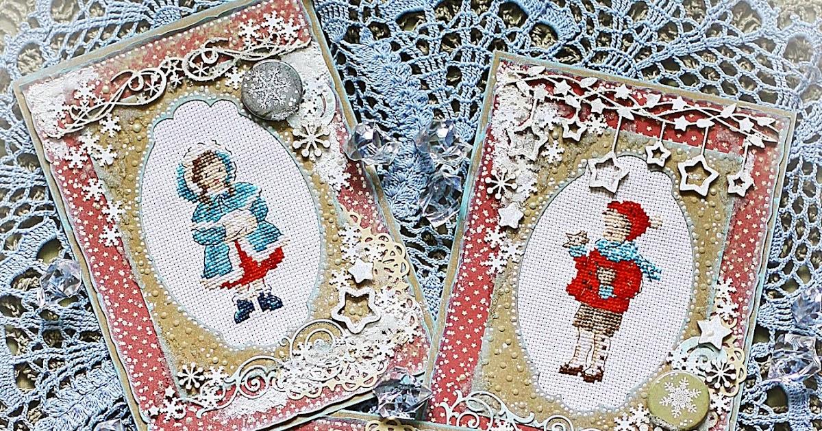 Смешные, открытки с вышивкой своими руками новогодние