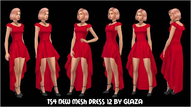 TS4 NEW MESH DRESS 12 BY GLAZA