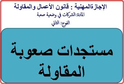 عرض حول مسطرة الإنقاد شروطها والحكم القاضي بفتحها كامل