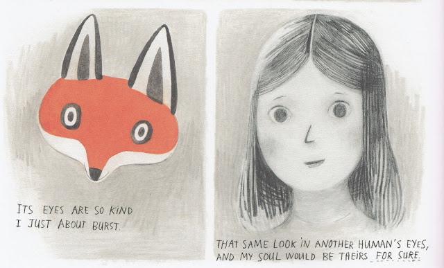 Detalle de algunas de las ilustraciones cuento Jane el zorro y yo realizadas por Isabel Arsenault, la historia es de Fanny Britt