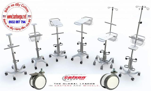 Bánh xe đôi Colson Mỹ dùng cho thiết bị y khoa phi 75 | CPT-3854-85