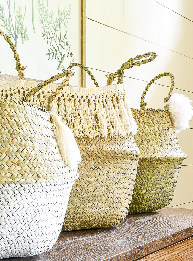 Inexpensive ideas for sprucing up basic belly baskets