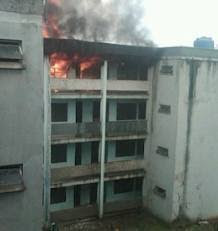 UNILAG Female Students' Hostel Gutted By Fire