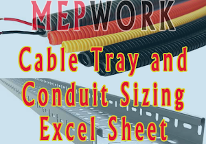 Mep work cable tray and conduit sizing excel sheet free download greentooth Image collections