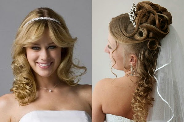 Bridal Updo Hairstyles With Veil And Tiara Wedding Photos