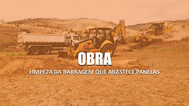 Prefeitura de Panelas-PE começou a obra de limpeza da barragem que abastece a cidade