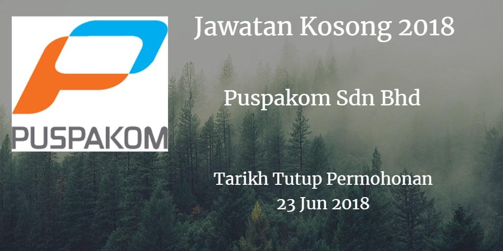 Jawatan Kosong Puspakom Sdn Bhd 23 Jun 2018