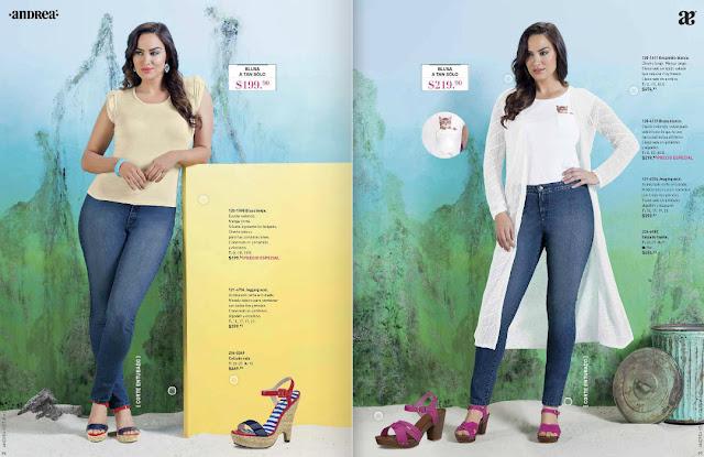 Andrea jeans ropa  verano 2016  moda : catalogo