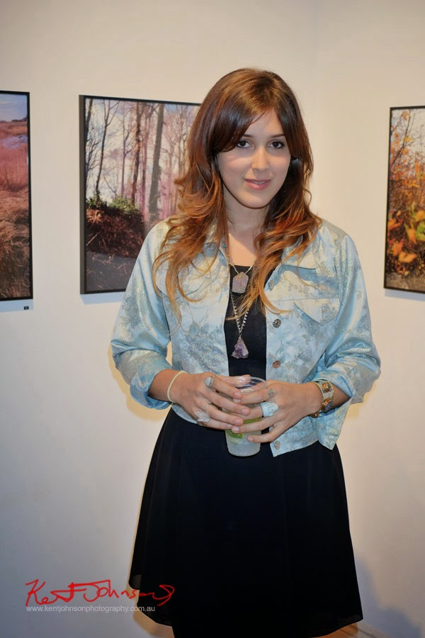Artist portrait of Eliya Nikki Cohen at We all Went Walking – the corner cooperative. Photograph by Kent Johnson.