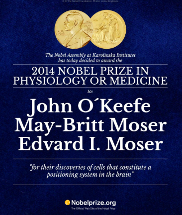 Nobel Prize 2014 in physiology or medicine