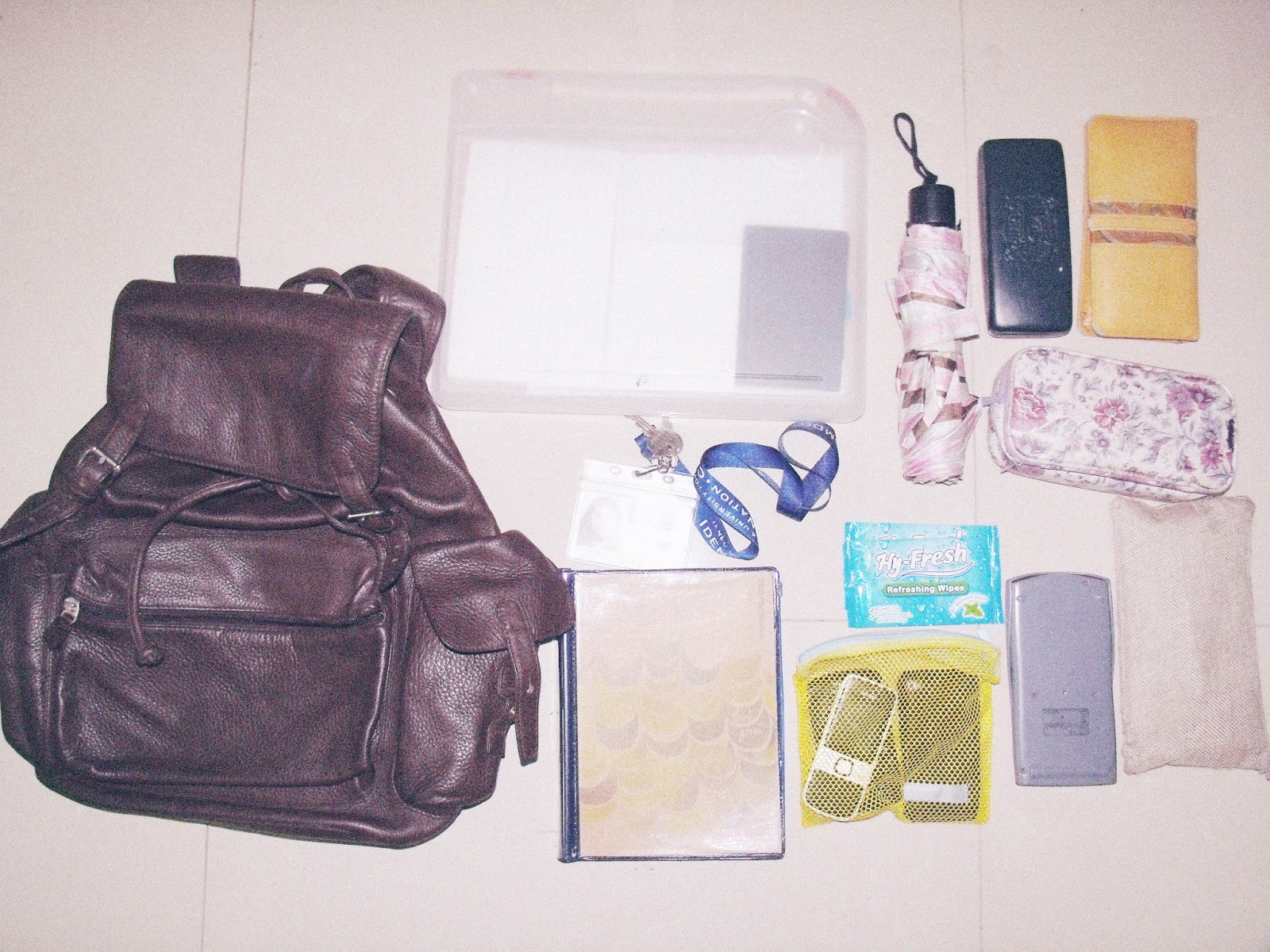 Forking Thoughts What S In My School Bag College Edition