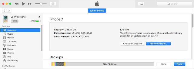 Restore iPhone Di iTunes
